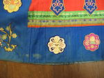 Two elaborately pieced silk woman's skirts, qun Late Qing/Republic period