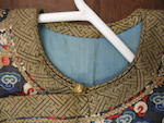 A blue ground kesi-woven silk dragon robe Late Qing dynasty