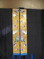 A woman's elaborately embroidered black silk gauze summer coat Late Qing dynasty