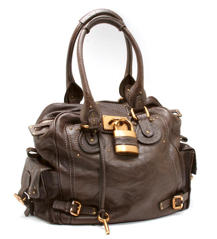 A Chloé brown leather 'Paddington' handbag