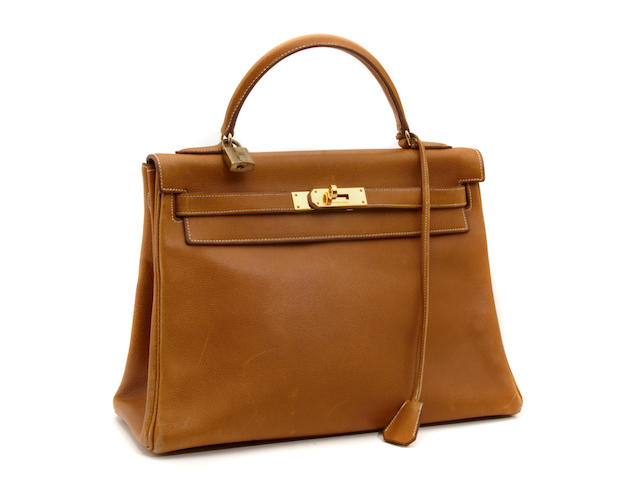 An Hermès tan leather Kelly handbag