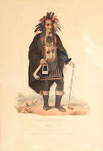 McKenney & Hall (American); Selected Plates, from The History of the Indian Tribes of North America; (10)