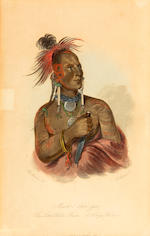 After George Catlin (American, 1794-1872); Selected Plates; (10)
