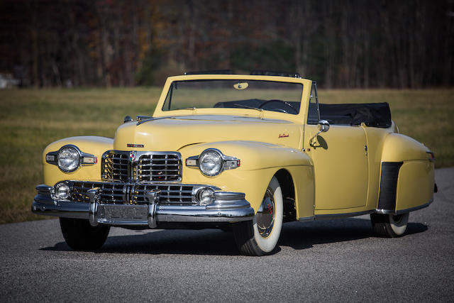 From the Estate of Eugene Beardslee,1948 Lincoln Continental Cabriolet  Chassis no. 8H171796 Engine no. CH171796