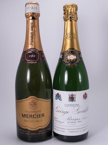 George Goulet Vintage Champagne 1964 (2)<BR />George Goulet Champagne NV (5)<BR />Mercier Vintage Champagne 1962 (5)