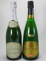 Andre Drappier Vintage Champagne 1979 (1)<BR />Louis Roederer Vintage Champagne 1985 (1)<BR />Medot Vintage Champagne 1981 (2)<BR />Medot Vintage Champagne 1980 (3)<BR />Medot Champagne NV (1)<BR />Taittinger Champagne NV (2)