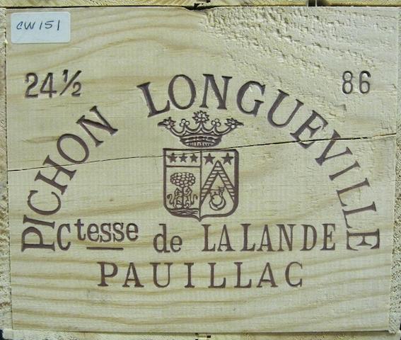 Château Pichon-Lalande 1986 (24 half-bottles)