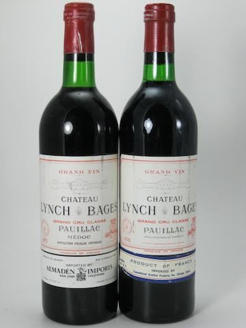 Château Lynch-Bages 1975 (11)<BR />Château Lynch-Bages 1978 (1)