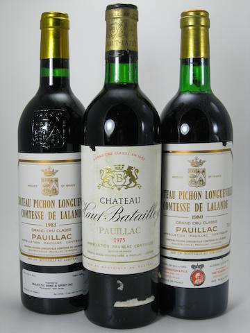 Château Haut-Batailley 1975 (1)<BR />Château Pichon-Lalande 1980 (2)<BR />Château Pichon-Lalande 1983 (9)
