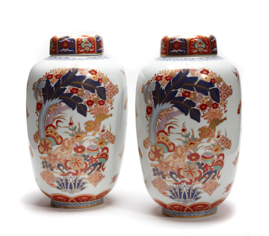 A set of four Vista Allegre covered jars