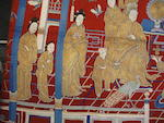 A large embroidered wool celebratory hanging Late Qing/Republic period