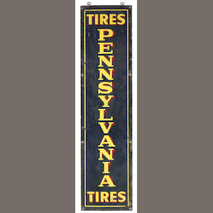 A Pennsylvania tires sign, c. 1930s,