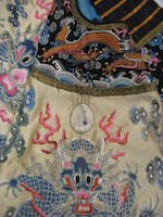 A silk embroidered twelve-symbol empress's informal robe Mid-late 19th century