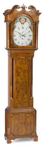 A George III mahogany tall case clock  late 18th century