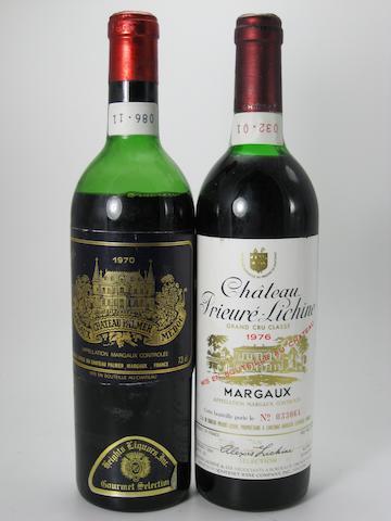 Château Palmer 1970 (6)<BR />Château Palmer 1976 (3)<BR />Château Prieuré-Lichine 1976 (3)