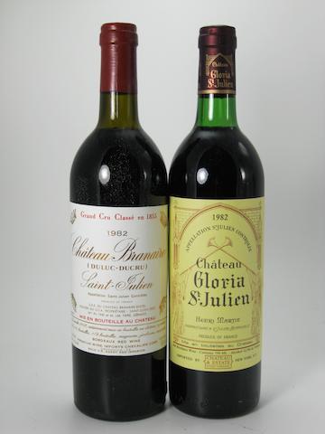 Château Branaire-Ducru 1982 (11)<BR />Château Gloria 1982 (1)