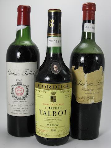 Château Langoa Barton 1924 (2)<BR />Château Talbot 1949 (1)<BR />Château Talbot 1966 (6)