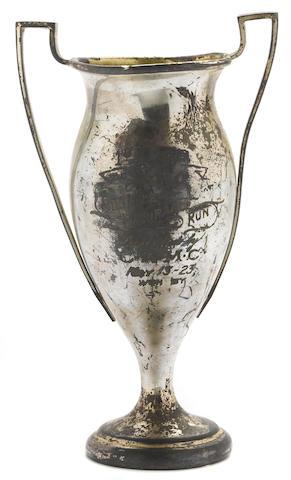 An ex-Ralph Hepburn 300 mile solo Motorcycle trophy, 1923,