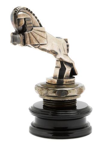 A styalized 'Pegusus' mascot by J. Martel, c. 1920s,