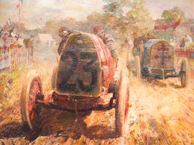 """Dexter Brown (De Bryune): """"Automobile Club de France Grand Prix, Dieppe, 1912,"""""""