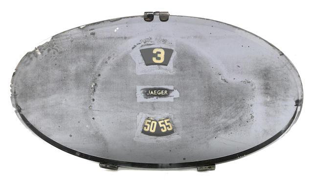 A Jaeger Oval Clock, mirror, circa 1934,