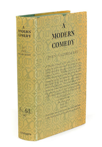 GALSWORTHY, JOHN. A Modern Comedy. London: William Heinemann, 1929.