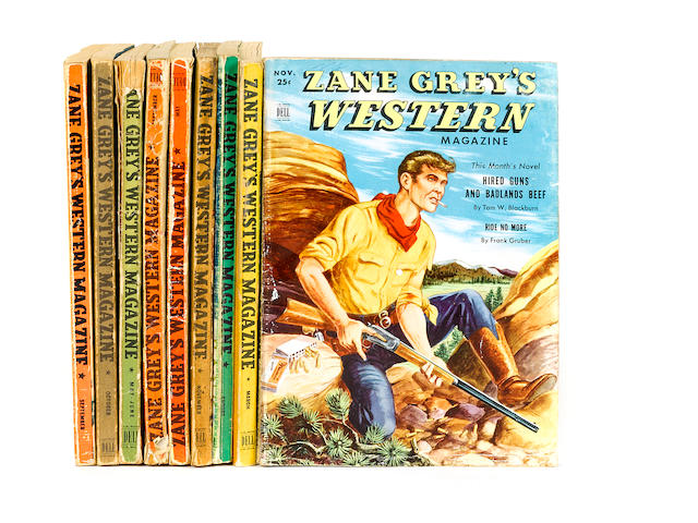 GREY, ZANE. 75 volumes + collection of Western Magazine