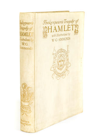 SHAKESPEARE, WILLIAM.  SIMMONDS, W.G., illustrator. Shakespeare's Tragedy of Hamlet. London: Hodder & Stoughton, [c.1910].