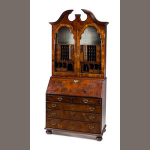 English mahogany slant front bookcase