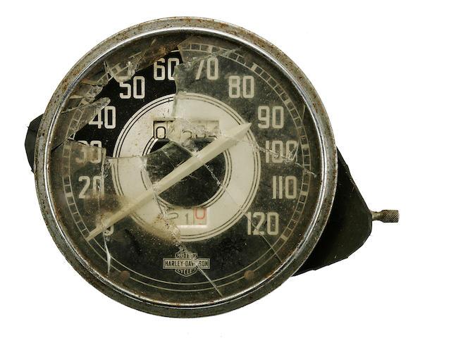 A Harley Davidson speedometer,
