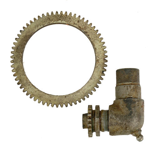 A speedometer drive and gear,