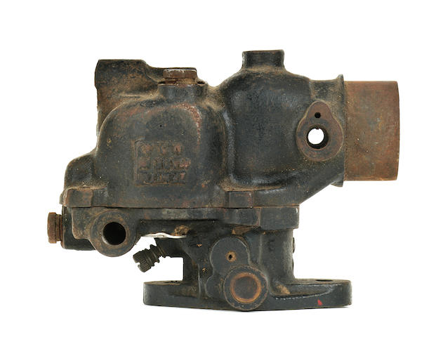 A Schebler motorcycle carburetor,