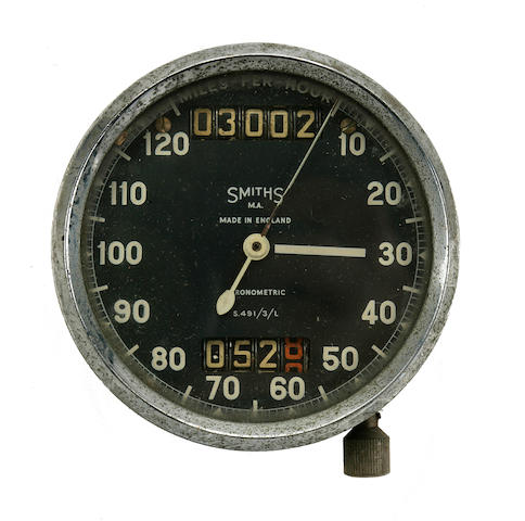 A Smiths Chronometric speedometer,