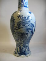 A fine and massive blue and white porcelain yenyen vase Kangxi period