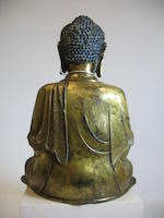 A good gilt bronze seated figure of the Buddha Ming dynasty