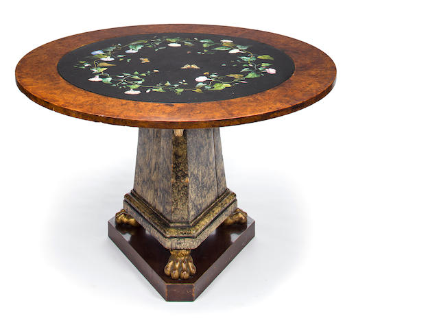 An Italian micromosaic inlaid top table