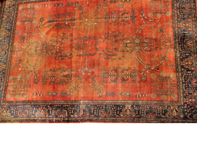 A Sarouk carpet size approximately 11ft. x  14ft. 1in.