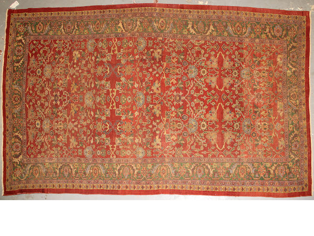A Ziegler Mahal carpet size approximately 8ft. x 12ft. 6in.