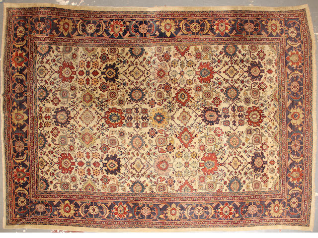 A Mahal carpet size approximately 9ft. x 12ft.