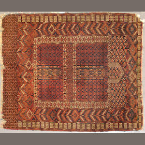 A Tekke rug  size approximately 3ft. 10in. x 4ft. 8in.
