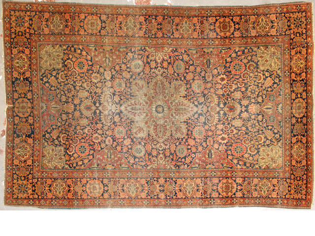 A Kashan rug  size approximately 4ft. 5in. x 7ft.
