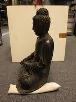 A large cast bronze seated figure of the Amitabha Buddha Ming dynasty