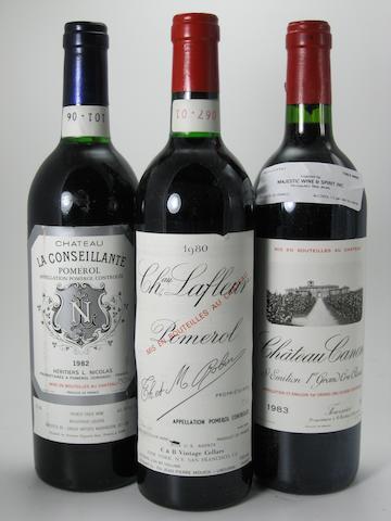 Château Lafleur 1980 (1)<BR />Château La Conseillante 1982 (1)<BR />Château Canon 1983 (10)
