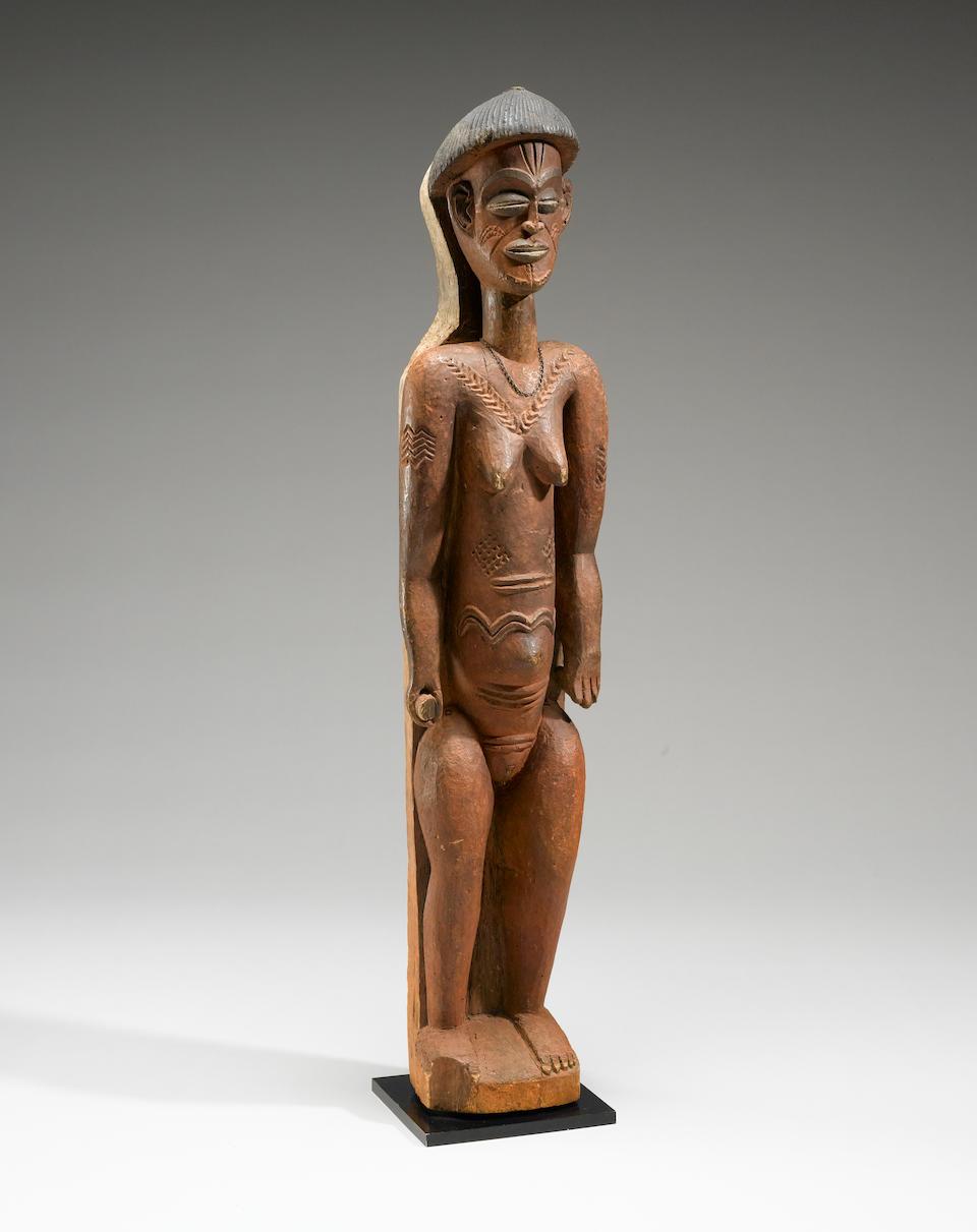 Important and Rare Chokwe Female Figure, Angola