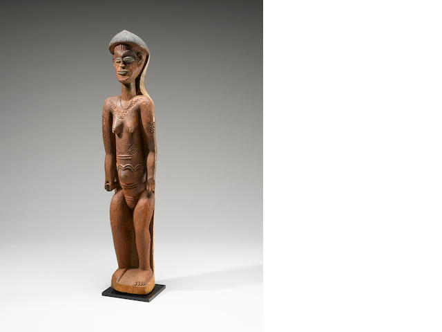 Important and Rare Chokwe Figural Doorpost, Angola