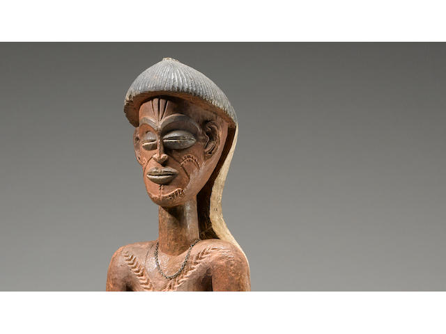 Important and Rare Chokwe Female Figure, Angola