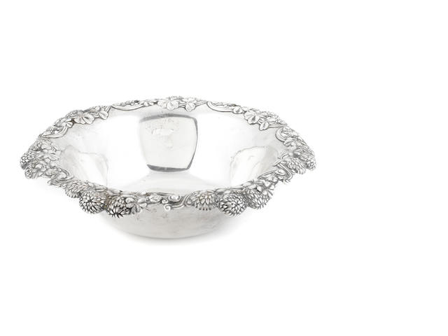 A Tiffany & Co. sterling silver fruit bowl