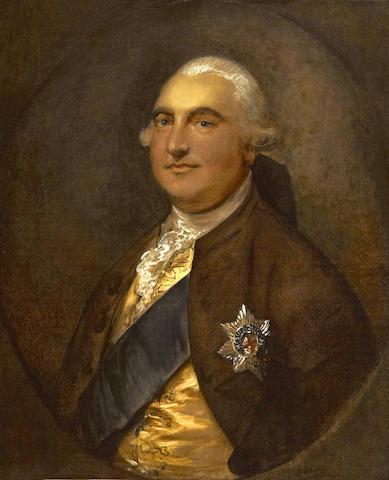 Thomas Gainsborough (Sudbury 1727-1788 London) A portrait of William Petty, 1st Marquess of Lansdowne 30 x 25in (76.2 x 63.5cm)