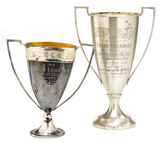 A pair of ex-Frank Lockhart trophies,
