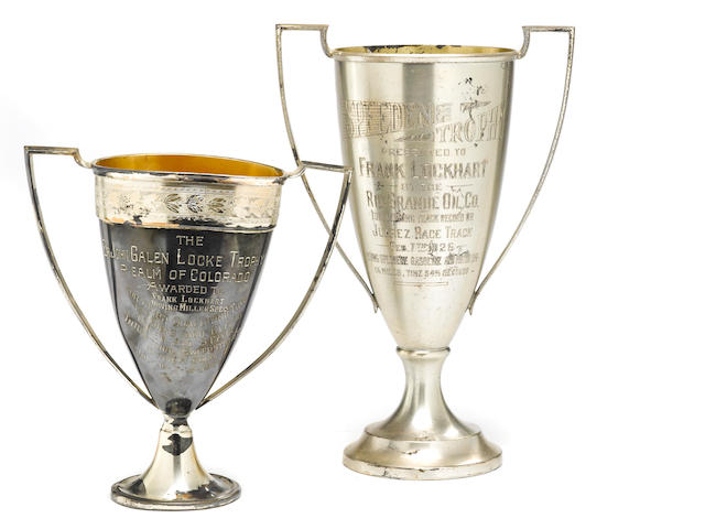 A pair of ex-Frank Lockhart trophys,